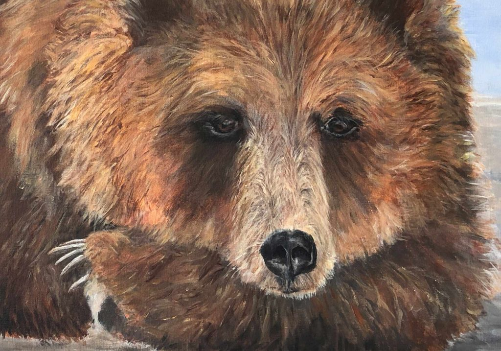 Deb Peters, Artist, Painter, Grizzly