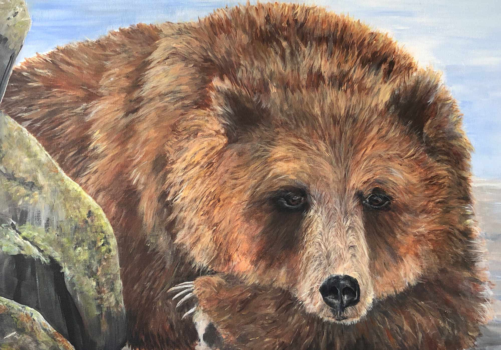 Deb Peters Artist Painter Grizzly