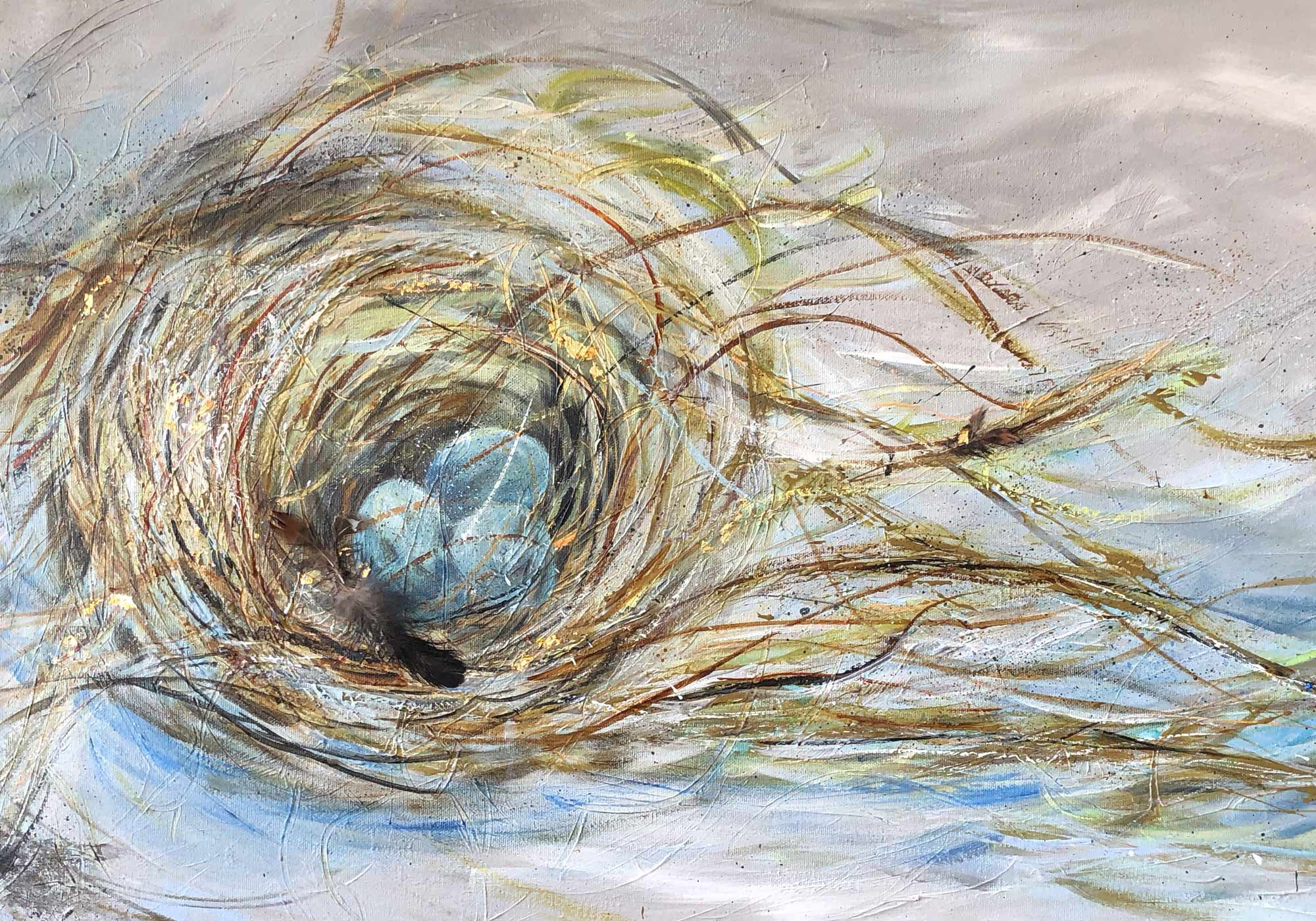 Deb Peters, Artist, Painter, Nest Eggs