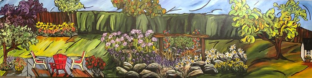 Liz's Garden 72 X 18 Acrylic