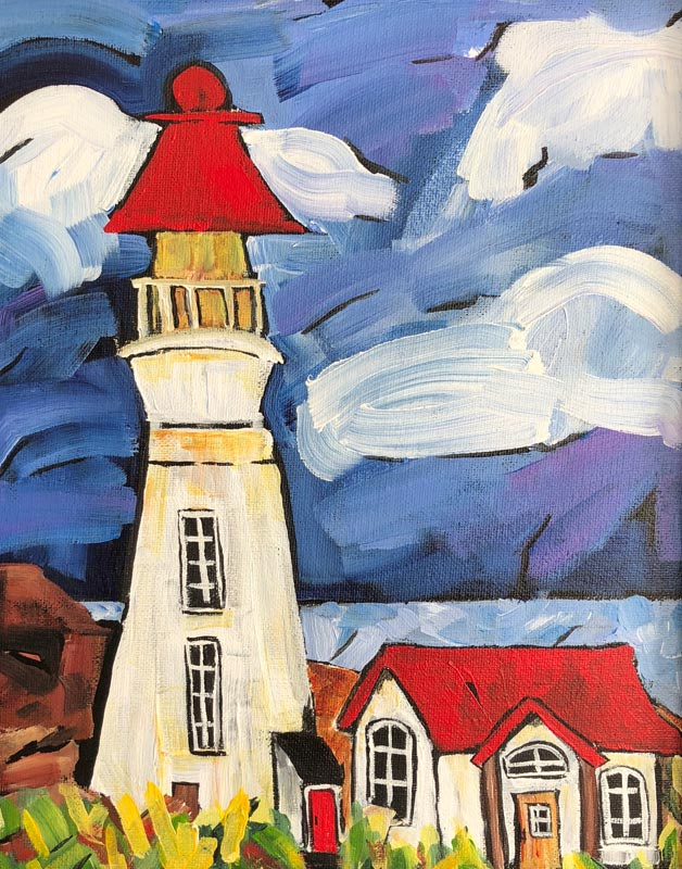 Lightkeeper's Home 12 X 14 Acrylic