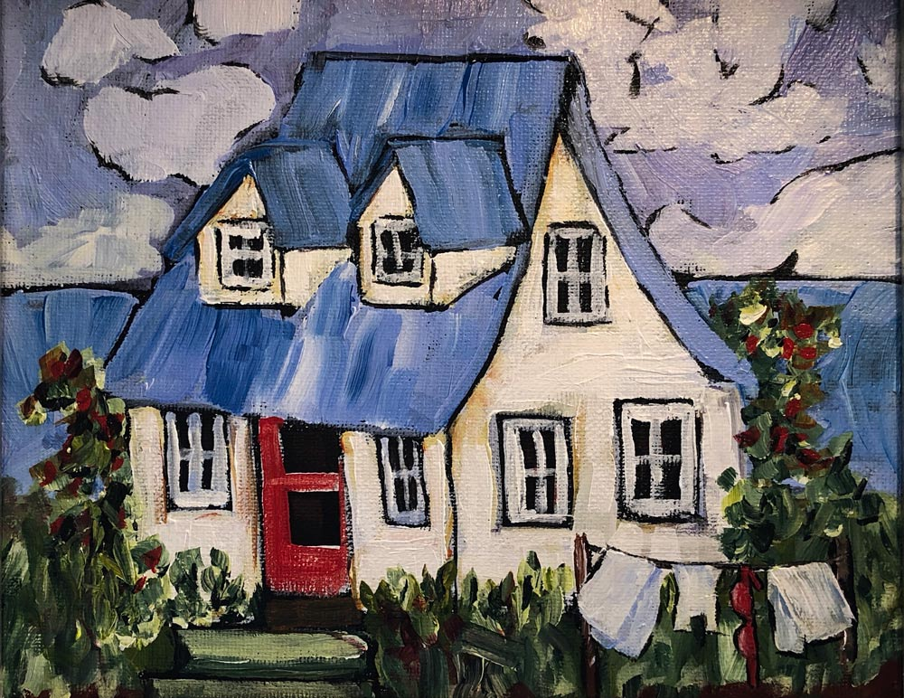 Cottage Home 12 X 14 Acrylic