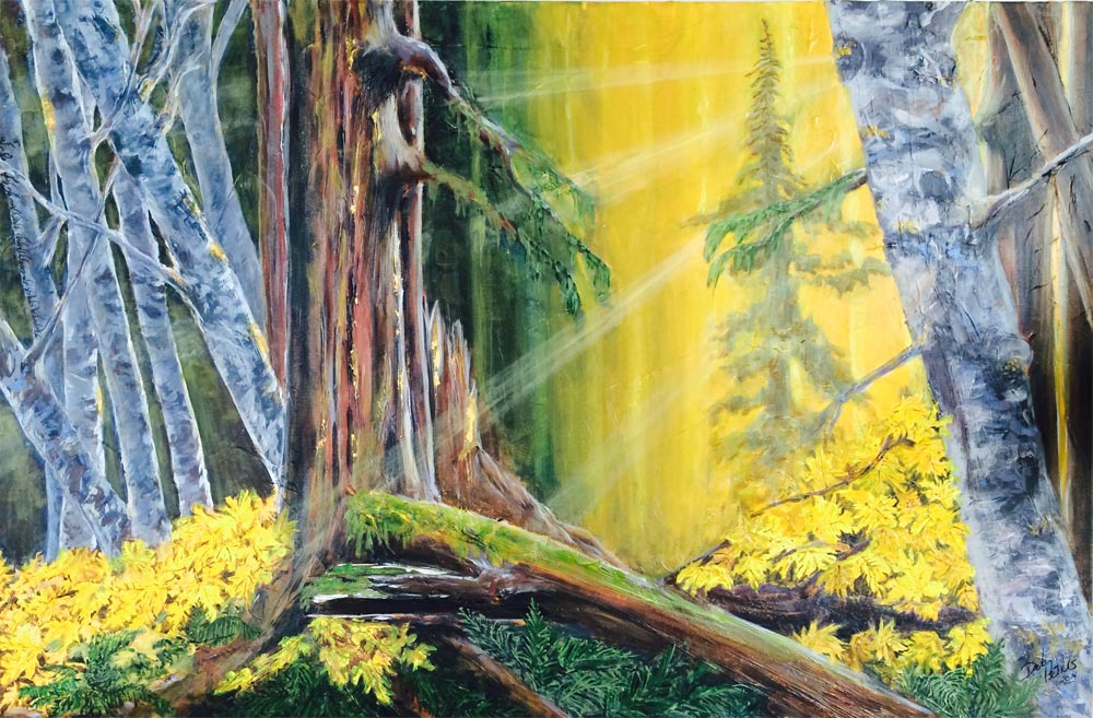 Forest Light 36 X 24 Acrylic