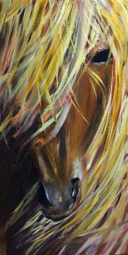 Lady, Deb Peters Horse Painting