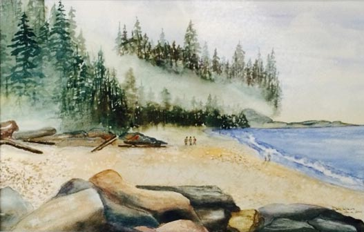 Mackenzie Beach 12 X 18 Watercolour