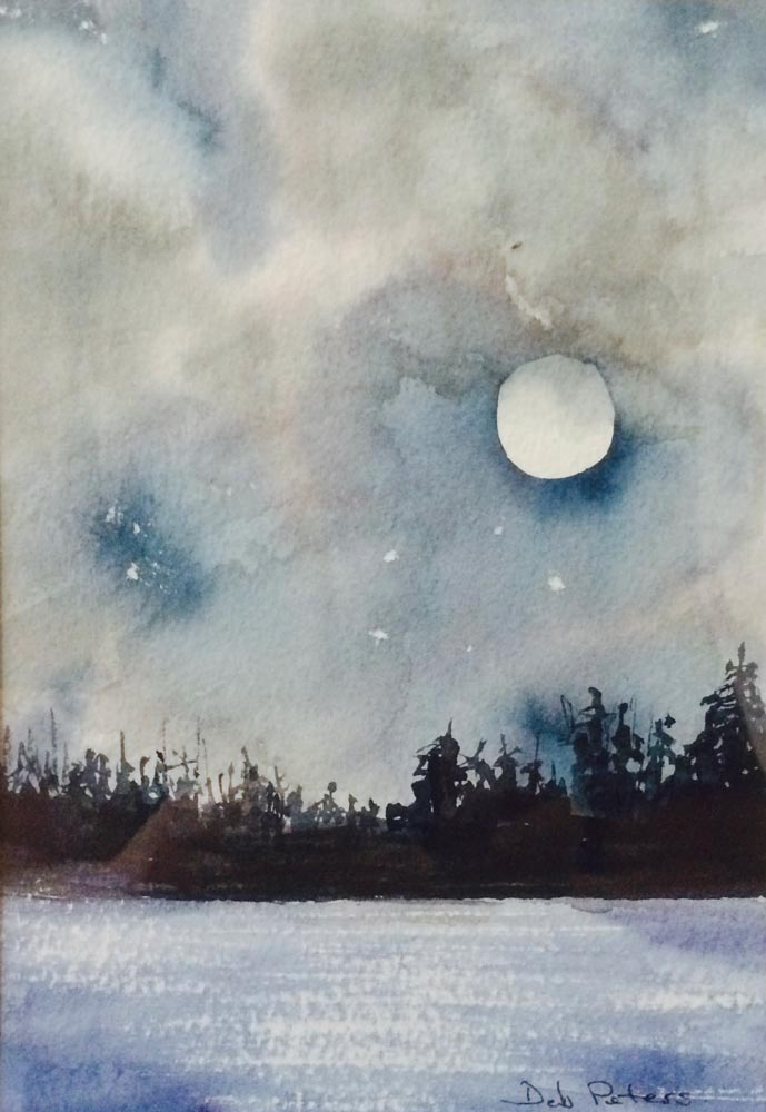 Moonlight 10 X 14 Watercolour