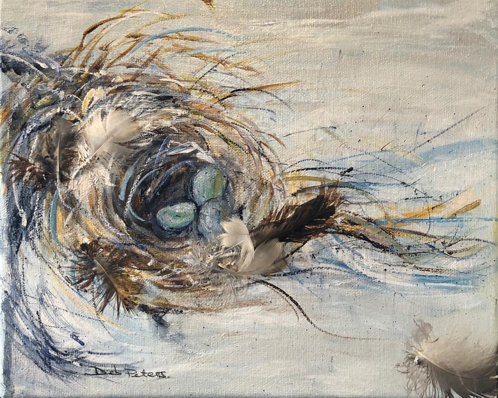 Nest One 11 X 14 Mixed Media