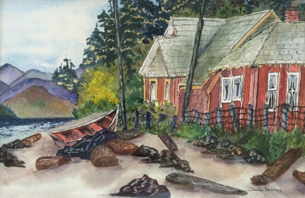 Qualicum Cottage Life 12 X 16 Watercolour