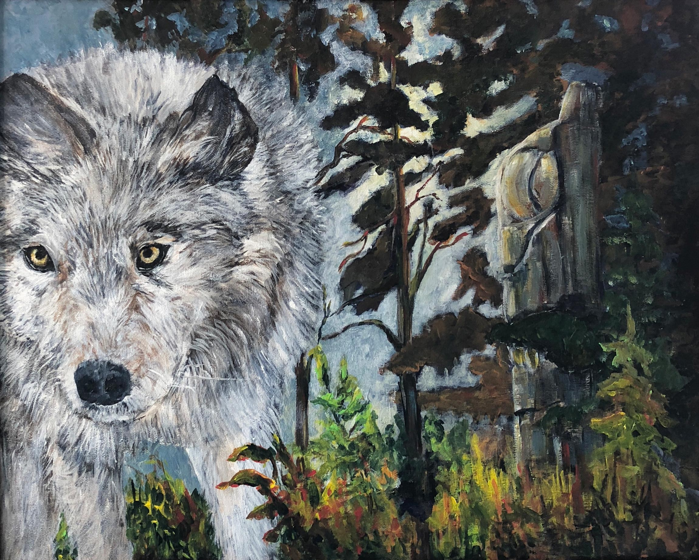 Spirit Wolf, Deb Peters, Painter
