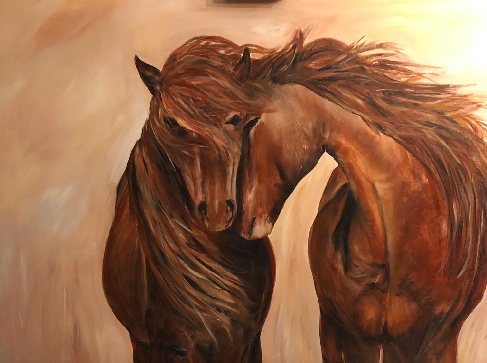 Tenderness, Deb Peters Painting of Horses