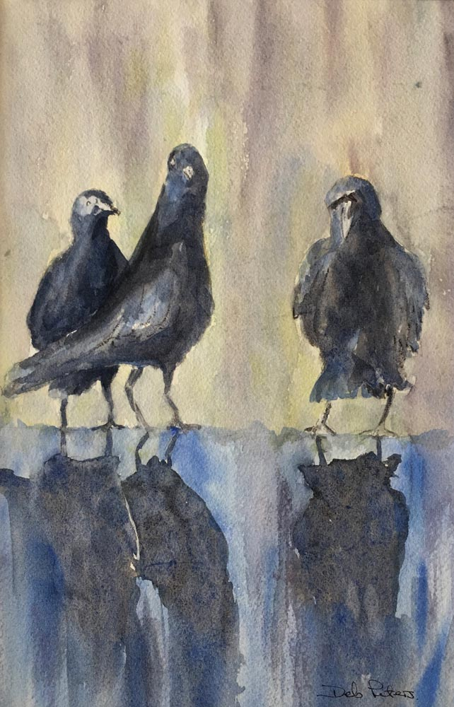 Three Amigos 12 X 14 Watercolour
