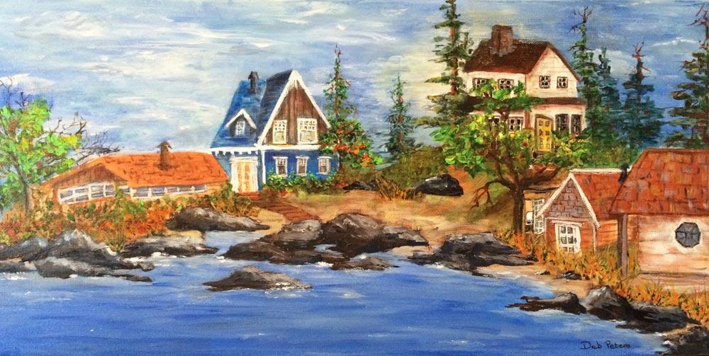 Village Cove 36 X 18 Acrylic