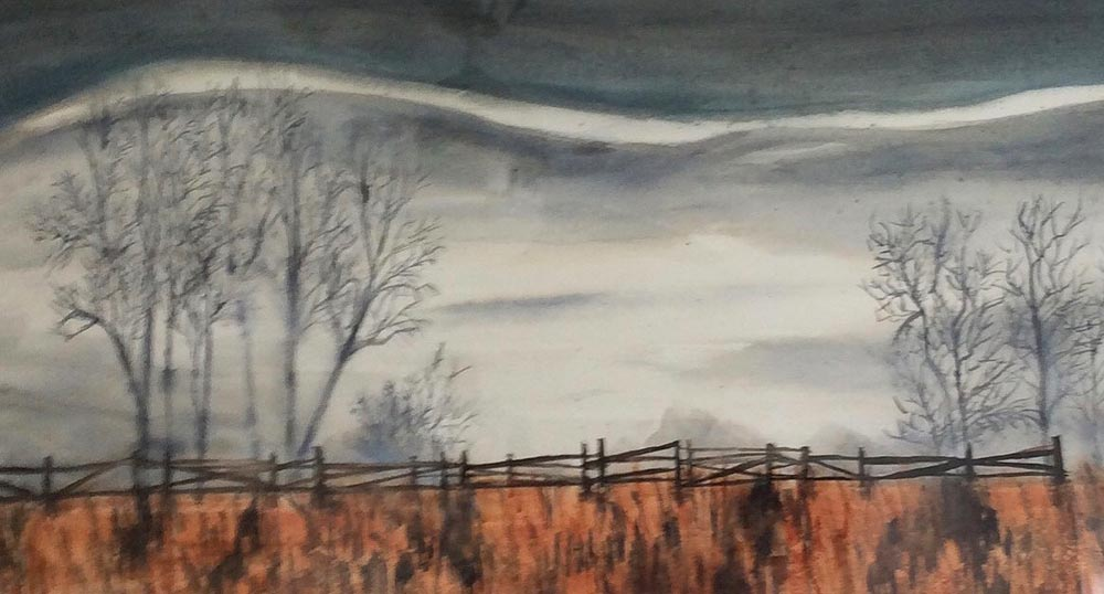 After the Rain 12 X 24 Watercolour $85