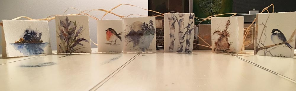 Hand Made Cards, Painted, Deb Peters